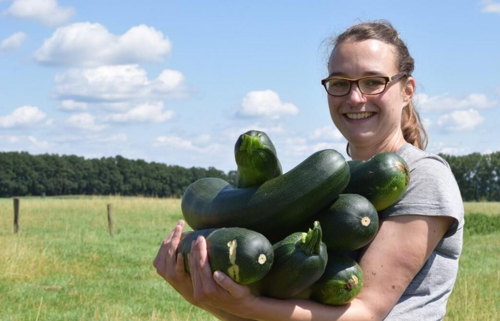 Porträt mit Zucchini